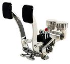"Empi Hydraulic Pedal Assembly with Roller, 3/4"" Clutch, 7/8"" Brake, Polished"