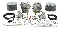 Dual 44mm Brosol / Solex Kadron Carburetor Kit with Electric Chokes for 2.0L Type 2's (72 and later)