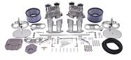 Dual Empi 44 HPMX Kit w/ Chrome Air Cleaners for Type 2/4 and 914 Engines