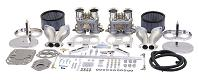 Dual Empi 44 HPMX Kit w/ Chrome Air Cleaners for Type 1