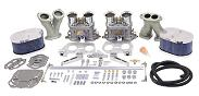 Dual Empi 44 HPMX Kit w/ Billet Aluminum  Air Cleaners for Type 1