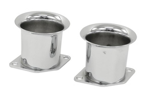"Chrome Velocity Stacks, 2 1/4"" Tall, Pair"
