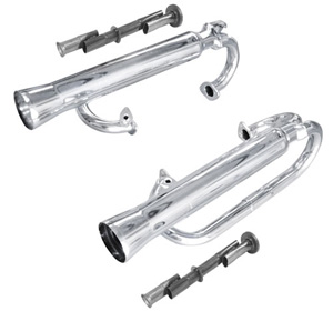 Buggy Dual Racing Exhast, Chrome